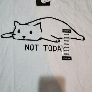 Not Today Cat Shirt M
